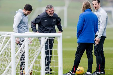 Craig Levein has laughed off speculation linking Aaron Hickey with Rangers