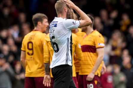 A dejected Sam Foley as St Mirren go down 2-0 to Motherwell. Picture: SNS