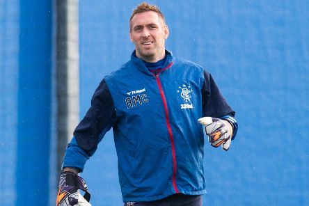 Goalkeeper Allan McGregor during a Rangers training session. Picture: Ross Parker/SNS