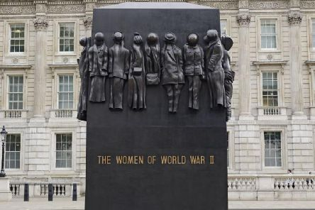 The Monument to the Women of the Second World War, near Downing Street and the Cenotaph, commemorates the work done by millions of British women who signed up for the armed services and in factories to bolster the war effort. Picture: Shutterstock