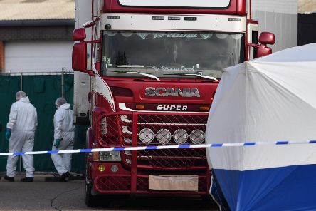 Each of the victims of the Essex lorry tragedy have been formally identified. Picture: AFP/Getty Images