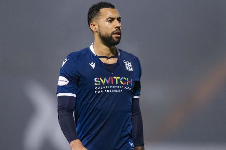 Dundee striker Kane Hemmings has scored three goals in his last two games. Picture: Bruce White/SNS