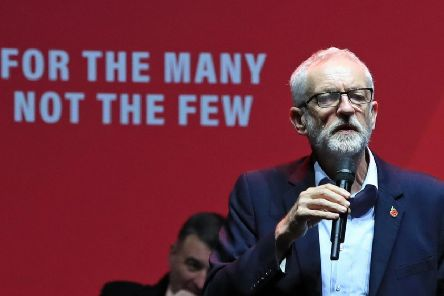 Mr Corbyn was heckled on a visit to Glasgow today