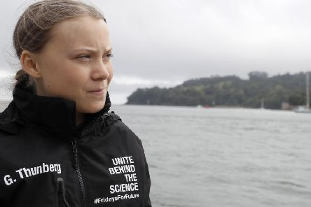 Hillary Clinton has said a lot of grown up male leaders are scared of teenage climate activist Greta Thunberg. Picture: PA