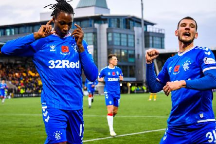 Joe Aribo put Rangers ahead at Livingston. Picture: SNS