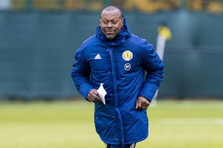 Scotland No 2 Alex Dyer during a training session at the Oriam. Picture: Craig Williamson/SNS