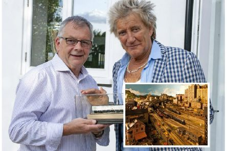 Sir Rod has spent more than 20 years working on the model layout. Picture: PA