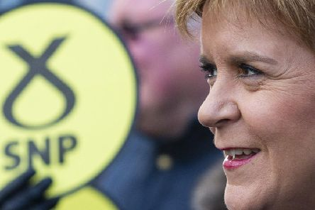 First Minister Nicola Sturgeon on the election campaign trail