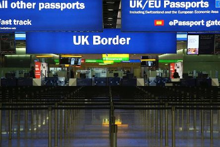 Border control at a UK immigration point