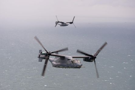 Among those taking part were a United States Air Force (USAF) CV-22 Osprey