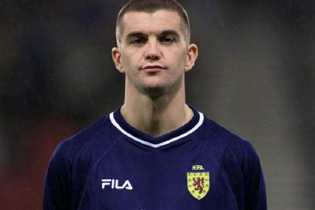 Dominic Matteo playing for Scotland