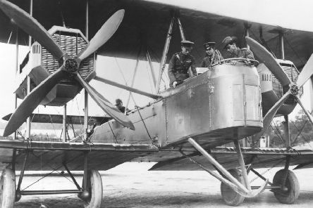 The Vickers Vimy aircraft. Pictures: Central Press/Hulton/Getty