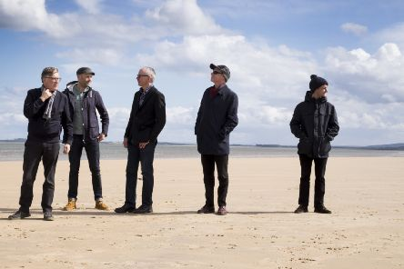 Gerry Love (far right) pictured with the rest of Teenage Fanclub in 2016, from left: Norman Blake, Dave MacGowan, Raymond McKinley and Francis MacDonald