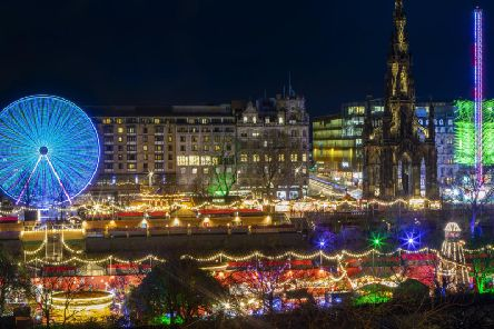 Christmas lights in Edinburgh