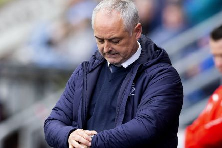 Time's up for Ray McKinnon, who was sacked by Falkirk following Saturday's draw with Dumbarton. Picture: SNS.