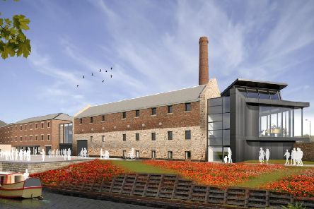 A computer generated image of what the distillery site should look like when it opens in 2021. Image: Contributed