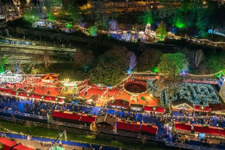 Around 88,000 people were said to have flocked to the opening day of Edinburgh's Christmas market on Saturday.
