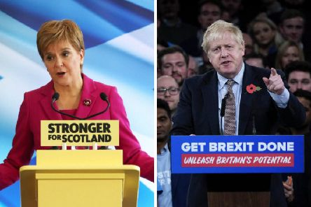 The SNP claimed the two main party leaders were scared of Ms Sturgeon. Pictures: PA