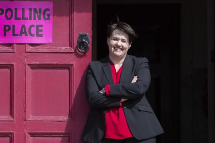 Ruth Davidson has warned against a Labour government supported by the SNP