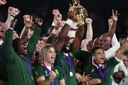South Africa celebrate winning the 2019 Rugby World Cup