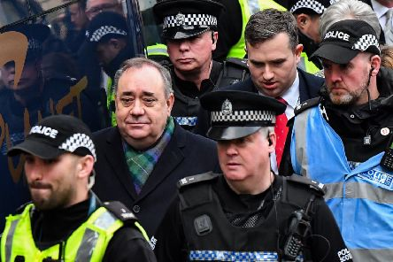 Alex Salmond leaves a preliminary hearing over allegations of sexual harassment, at the High Court in Edinburgh. Picture: Andy Buchanan