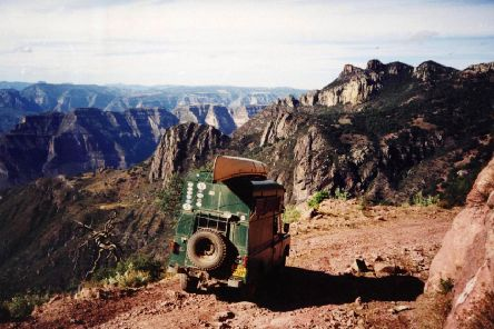 Matilda negotiates a dirt track in Arizona near the Grand Canyon. Picture: SWNS