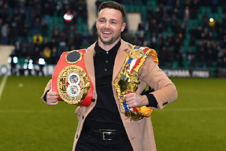 East Lothian-born boxing star Josh Taylor will be joined by actor Martin Compston and the bands Twin Atlantic and Travis on BBC Scotland on Hogmanay.