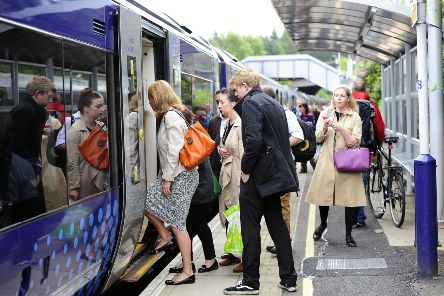 Trains between Scotland's two major cities via Falkirk High will see an increase to eight carriages. Picture Michael Gillen