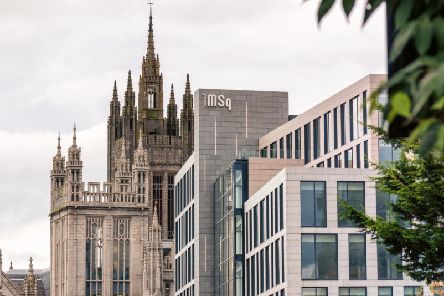 The Marischal Square development against the backdrop of Marischal College. Picture: Contributed