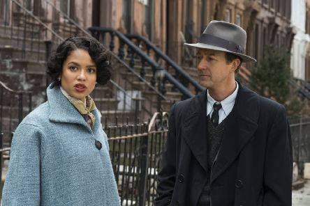 Gugu Mbatha-Raw and Edward Norton in Motherless Brooklyn PC: Warner Brothers