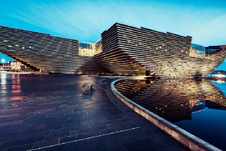 The V&A Dundee (pictured) and the National Museum of Scotland in Edinburgh are two of only three nominations in the UK