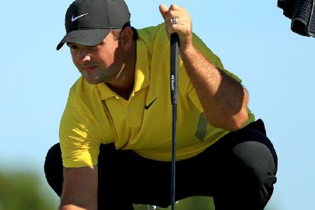 Patrick Reed dropped from one shot to three off the lead after his rules infringement in the Hero World Challenge. Picture: Mike Ehrmann/Getty
