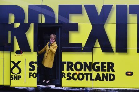 First Minster Nicola Sturgeon poses as the SNP kick off the UK General Election Campaign Bus Tour in South Queensferry. Picture: Mark Runnacles/Getty Images