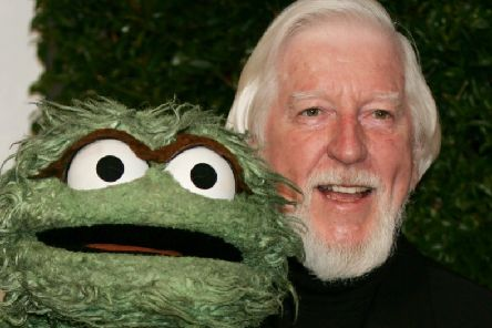 Caroll Spinney with his characters Oscar The Grouch. Picture: AP