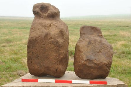 They were scattered around a hearth within the remains of structure containing three cists, two hearths and a partial ring of holes packed with broken off upstanding stones. Picture: SWNS