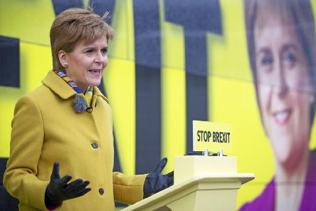 Nicola Sturgeon wants to lock Boris Johnson out of Number 10.
