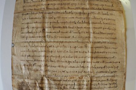 The Stocket Charter, which was signed by King Robert the Bruce 700 years ago on December 10 1319 and which granted powers to the city of Aberdeen to raise money from market tolls, fishing and other businesses. PIC: Aberdeen City Council.