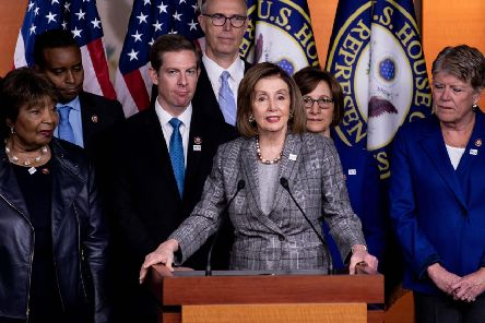 House Speaker Nancy Pelosi holds a press conference about the Madrid climate summit (Picture: Brendan Smialowski/AFP/Getty Images)