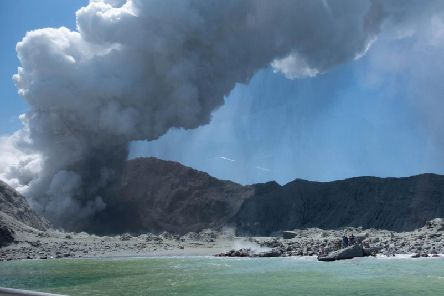 Survivors described how tourists were forced to run into the sea to escape the clouds of thick black ash and scalding vapour. Picture: PA