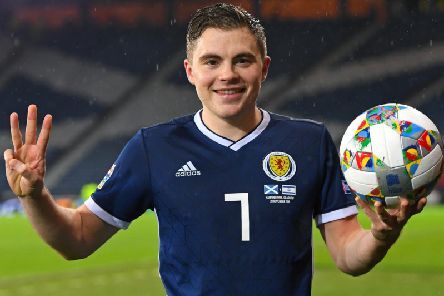 James Forrest scored a hat-trick when Scotland last played Israel in a 3-2 win last November. Picture: SNS