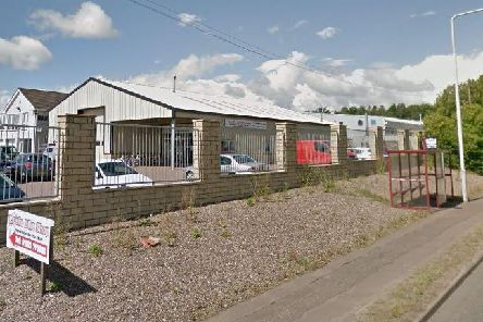 The outside of Leslie Bike Shop in Glenrothes, which was raided by thieves