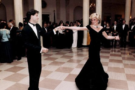 The dress that Diana, Princess of Wales wore while dancing with actor John Travolta that has been auctioned for 264,000 pounds