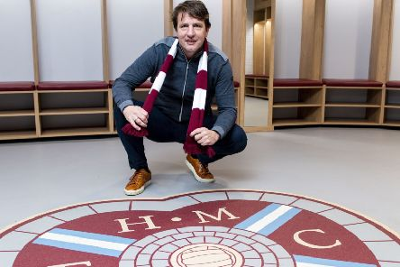 Daniel Stendel is unveiled as Hearts' new manager at Tynecastle. Picture: Craig Williamson/SNS