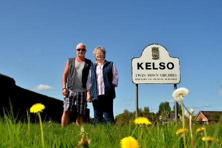 Betty Hodges and Lewis Hamon from Kelso in Bloom.