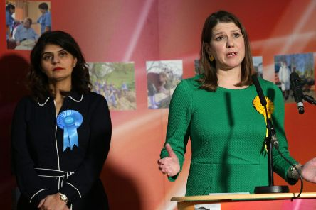 Liberal Democrat Leader Jo Swinson speaks after losing her East Dunbartonshire seat (Picture: David Cheskin/Getty Images)