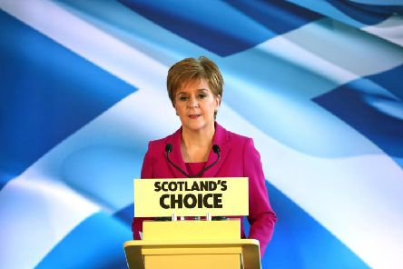 """The First Minister, whose party won 47 seats in yesterday's General Election, said the SNP's success """"reinforcesand strengthens the mandate"""" to ensure a second vote. Picture: PA"""