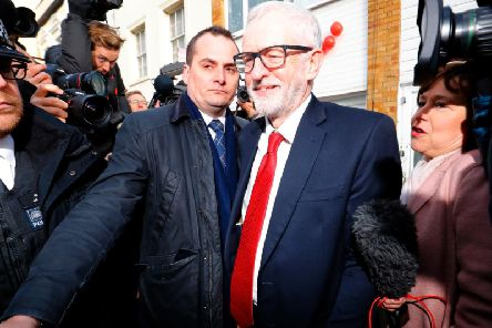 Jeremy Corbyn leaves his home in north London after Labour's defeat in the general election was revealed (Picture: Tolga Akmen/AFP/Getty)