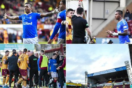 Rangers defeated Motherwell 2-0 but Alfredo Morelos reverted to his old ways after being sent off for celebrating his goal with an offensive gesture