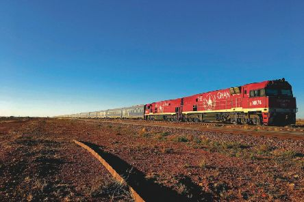 The Ghan train travels from Adelaide to Darwin, through Australia's Outback
