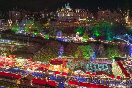 Edinburgh's Christmas market proved somehwat controversial this year